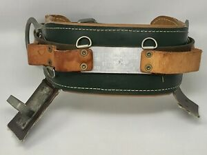 R h Buhrke Leather Lineman Tree Pole Climbing Belt Bell System E Size 18 Rt