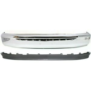 Kit Bumper Face Bar Chrome Front For Truck F150 F250 F350 Fo1002237 Fo1095154