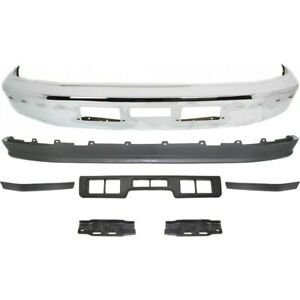Bumper Face Bar Kit Chrome Front For F250 Truck Ford F 250 Bronco 1992 1994 1996