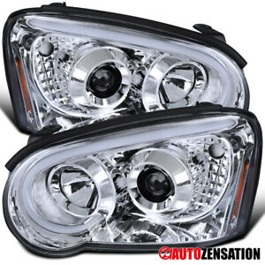 For 2004 2005 Subaru Impreza Wrx Clear Projector Headlights Lamps Led Drl Tube