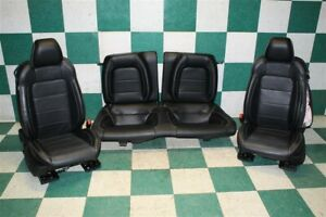 15 17 Mustang bag Coupe Black Leather Heated Cooled Front Buckets Backseat Set