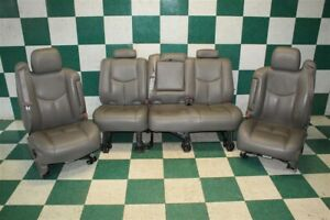 03 06 Avalanche Gray Leather Front Power Heated Buckets Rear Bench Seat Set Oem