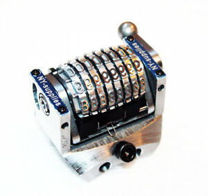 3 16 Rotary 8 Digit Convex Backwards Numbering Machine For Morgana Standard