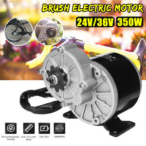 350w 24v 36v Dc Brush Electric Motor For 410 1 2 x1 8 Chain Bicycle E Bike