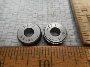 Reed Knurl Wheel Roller Bs 96 Dp Set Of 2 Used In Excellent Cond