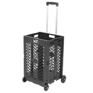 New Shopping Cart Collapsible Basket Folding Trolley 2 wheel Rolling Breathable