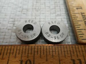 Reed Knurl Wheel Roller Bs 96dp Set Of 2 Used In Excellent Cond
