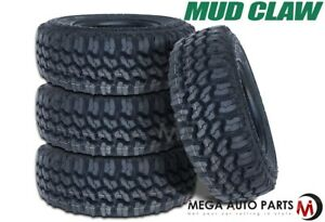 4 Mud Claw Extreme M t Lt295 70r17 121 118q All Terrain Off road Truck Mud Tires