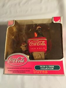 Coca Cola Trim a Tree Bear Penguin Coke Dispenser Christmas Ornament kmart