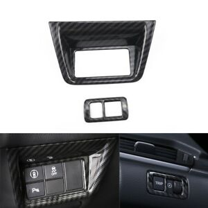 For Honda Accord 18 19 Parts Abs Carbon Fiber Left Console Function Button Trim