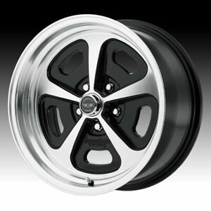American Racing Vn501 500 Mono Cast Machined Black 15x7 5x4 75 0mm Vn50157034500