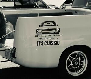 Antique Vehicle Decal Retro Car Sticker Old Classic Truck Graphics X2 Decals