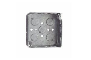 2 gang 4 In X 1 1 2 In Deep Square Metal Electrical Box Steel 0 66lb Case Of 50