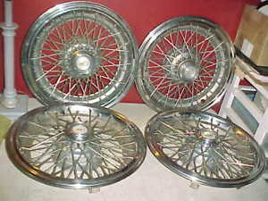 Vtg Set 1986 1996 Chevy Caprice 15 Locking Wire Spoke Wheel Cover Hubcaps Used