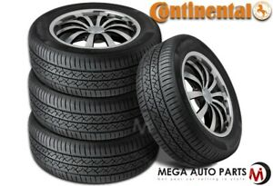 4 Continental Truecontact Tour 215 45r17 87v All Season Tires W 80k Mi Warranty