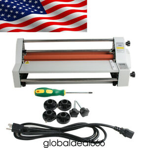17 hot Cold Roll Laminator Single dual Sided Laminating Machine 110v 700w Usps