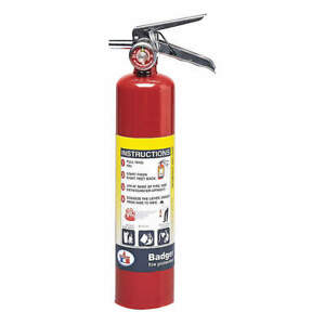 Fire Extinguisher plated Brass 2 5lb B250m