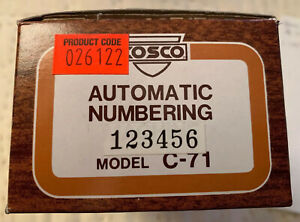 Vintage Cosco Automatic Numbering Machine Model C 71 W box Ink Maybe Unused