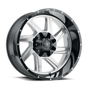 20x10 Lhd14 6x135 139 7 18 Gloss Black Polished Face Off Road Wheel Set Of 4