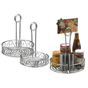 American Metalcr Stainless Steel Condiment Rack silver 7 3 4 X 9 5 16 In Sscc8