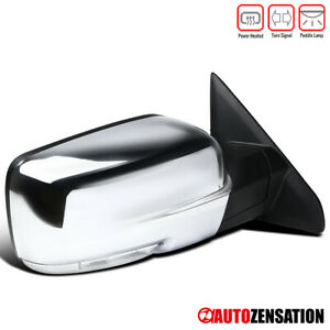 For 2009 2012 Dodge Ram 1500 Chrome Power Heat Right Mirror Led Signal Puddle
