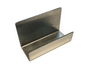 Stainless Steel Office Business Card Holder Name Card Stand Display holds 75