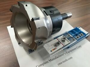 5 90 Degree Indexable Face Shell Mill 20 Extra Apkt1604 Inserts W R8 Arbor