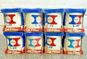 8 Vintage 1970 s Hutchens Oil Filters S 49 Lot Of 8 Sealed New Old Stock Wi Usa