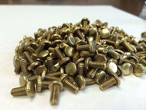 Machine fitter screws brass plated steel flat head knurled Lot of 300 $6.00