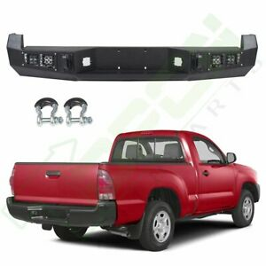 Step Rear Bumper Guard Assembly For Toyota Tacoma 2013 2015 Steel Black Truck