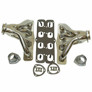New 1951 1958 Mopar Chrysler Hemi V8 Chrome Hugger Shorty Headers V8 331 354 392
