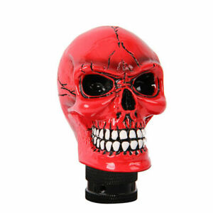 F878 Manual Car Gear Shift Knob Shifter Lever 11 5mm Hole Skull Head W adapters