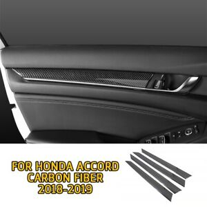 Carbon Fiber Look Car Door Stripe Trim For Honda Accord 2018 2019 2020 Parts