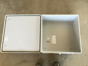 Stahlin J2424hpl Electrical Fiberglass Enclosure box stainless Steel Hardware