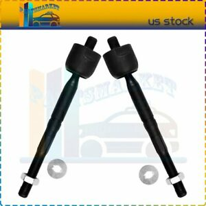 Suspension New Front Inner Tie Rod End Links Parts X2 Fit For Lexus Gs400 Gs300