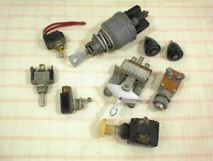 Vintage Ignition Fan Starter Toggle Switch Key Lot Of 7 Ford Chevrolet Gm Misc