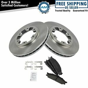 Front Premium Posi Ceramic Disc Brake Pads Rotor Kit For Frontier Pathfinder