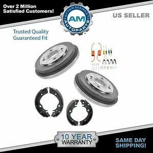 Rear Brake Drum Shoes Hardware Kit Set For 90 02 Honda Accord New