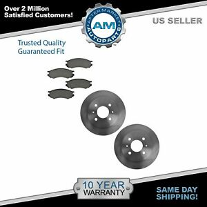 Front Metallic Brake Pads Rotors Kit Set For 91 02 Saturn Sl Sc Sw