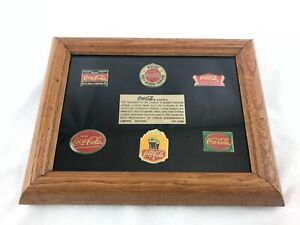 Coca Cola Brand Collectors Framed Pins Set Of 6 Limited Edition 1802 Of 3000