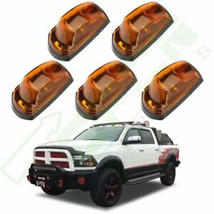 5x Yellow Led For 2017 2019 Ford F250 F350 Cab Marker Roof Running Light
