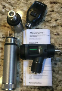 Welch Allyn Macroview 23820 Standard Ophthalmoscope Otoscope Diagnostic Set New
