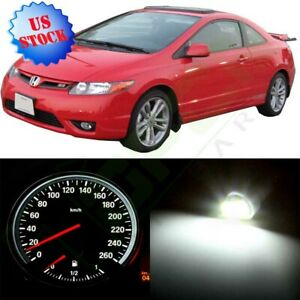 Instrument Speedometer Cluster Light White Led Kit For 2002 2005 Honda Civic Si