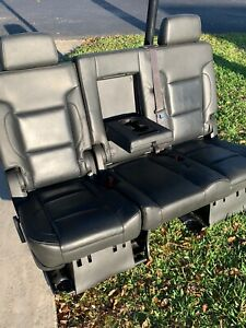 2015 20 Chevrolet Tahoe Leather Bench Seat Yukon Escalade 2nd Row Second Black
