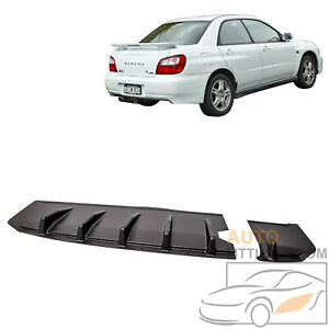 For 2002 2003 Subaru Impreza Wrx Sti Sedan Jdm Rear Bumper Lip Diffuser Splitter