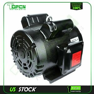 3 Hp Air Compressor Electric Motor 184t Frame 1750 Rpm Single Phase 1 1 8 shaft