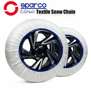Sparco Textile Snow Tire Chains Socks Covered Roads For Tire Size 215 40r16