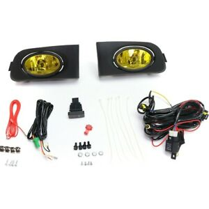 Fog Light For 2001 2003 Honda Civic Front Left And Right Set Of 2 Yellow Lens
