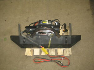 Champion 100427 Winch 12000 Lb W Front Bumper From 2005 Jeep Wrangler