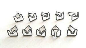 Ten Nos Running Board Moulding Clips For Pontiac Deluxe 6 8 Cylinder 1939